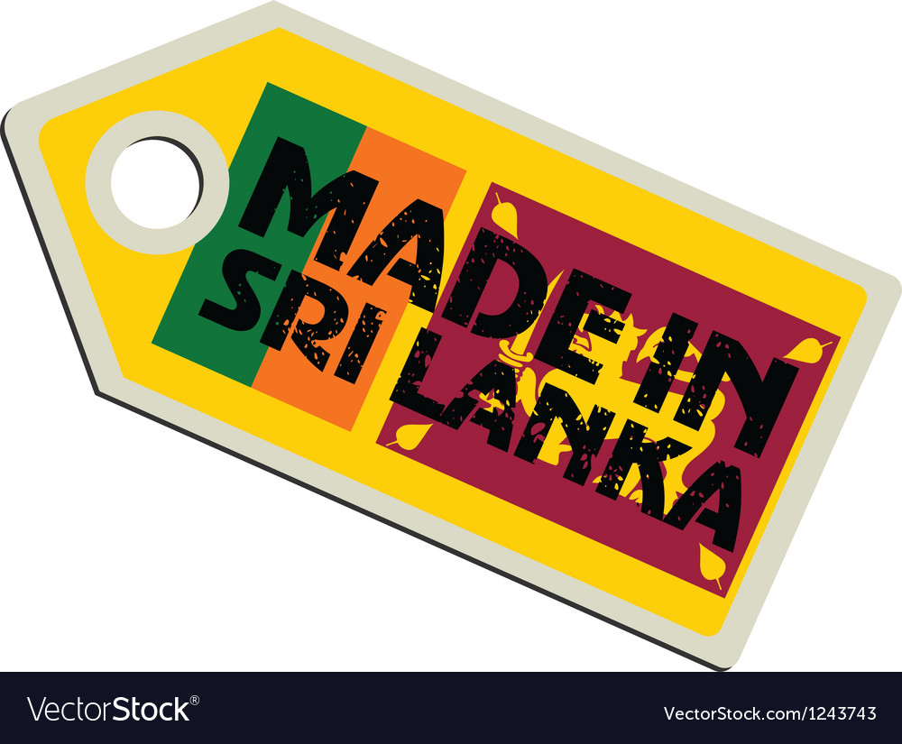 Made in sri lanka vector