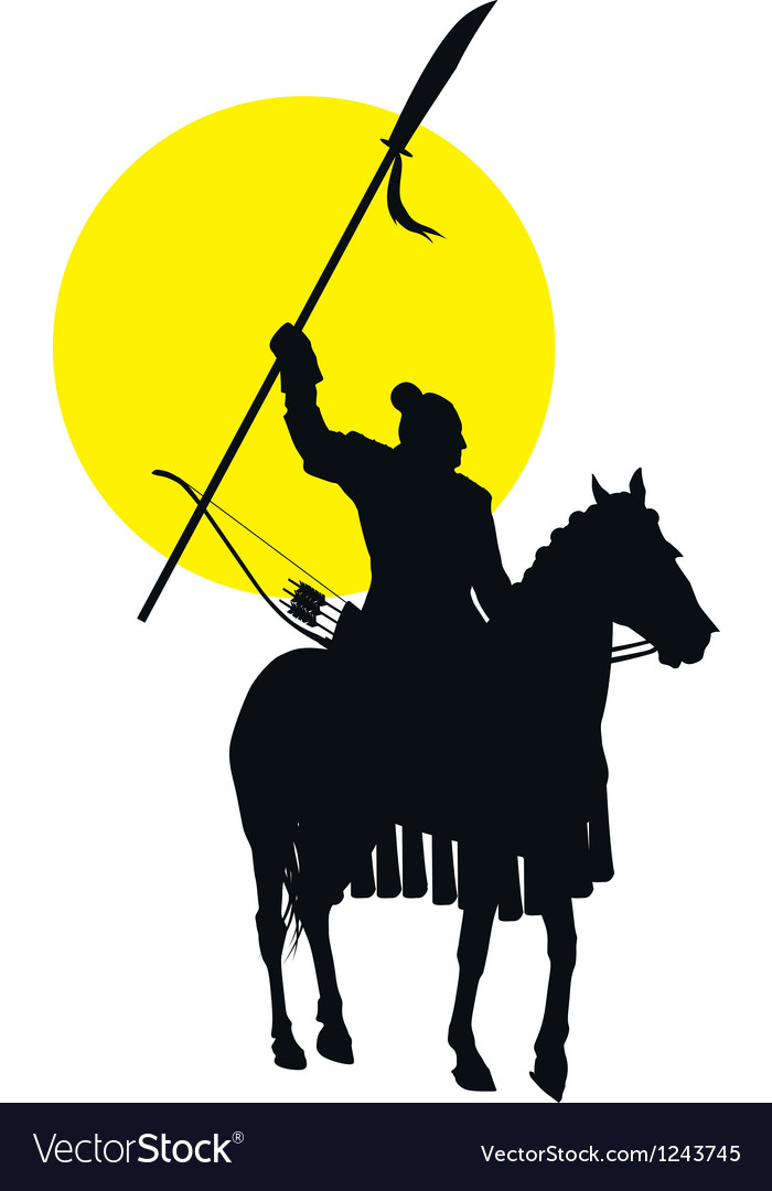Chinese horseman vector
