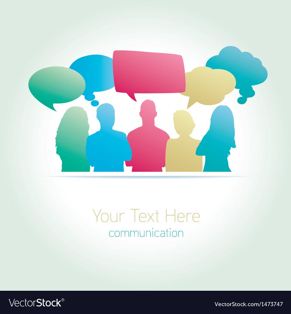 People communicating social media vector