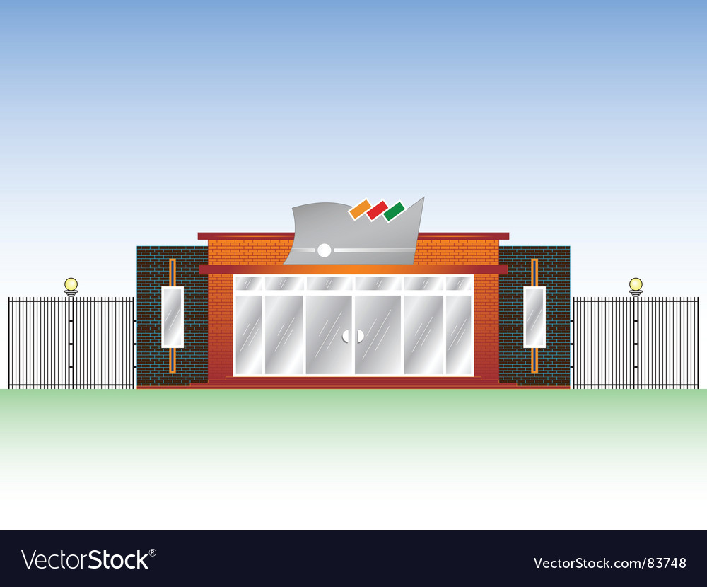 Building industrial facade vector