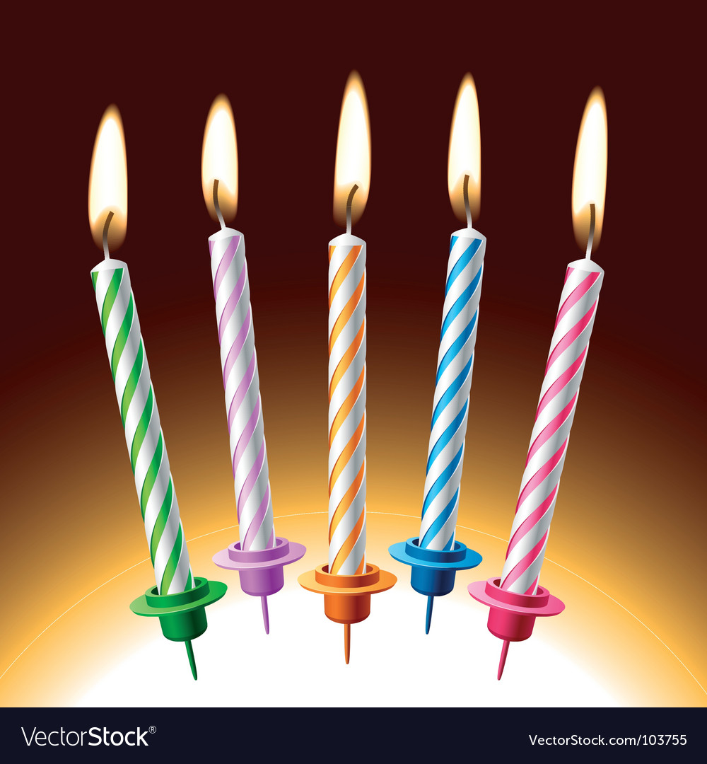 Single Birthday Candle Graphic Birthday candles vector