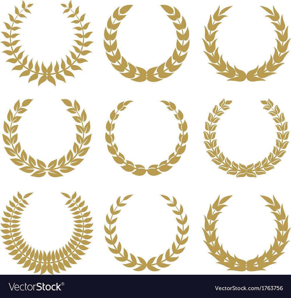 Laurel wreaths 1 vector