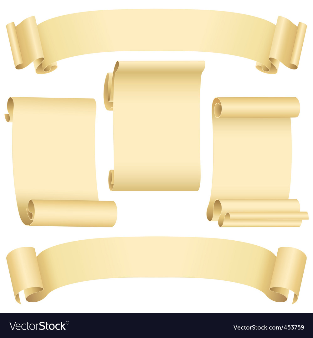 Grunge banners and scrolls vector