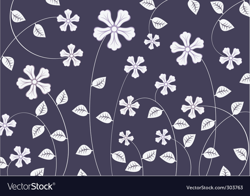 Funky flowers vector