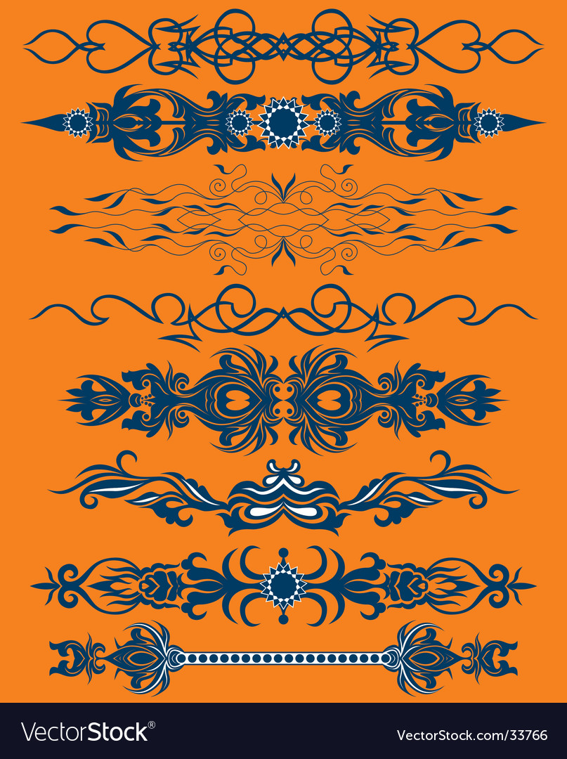 Floral pattern bands vector