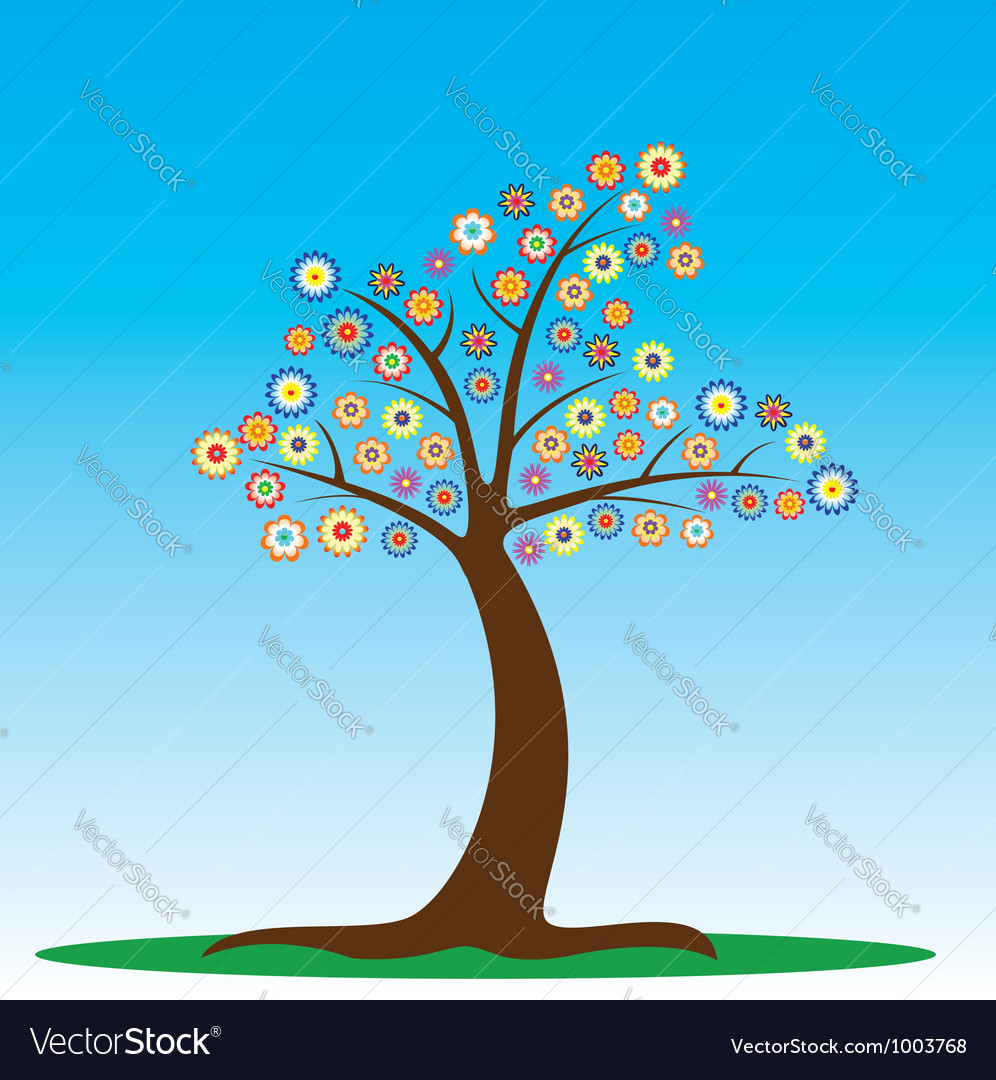 Tree in blossom vector