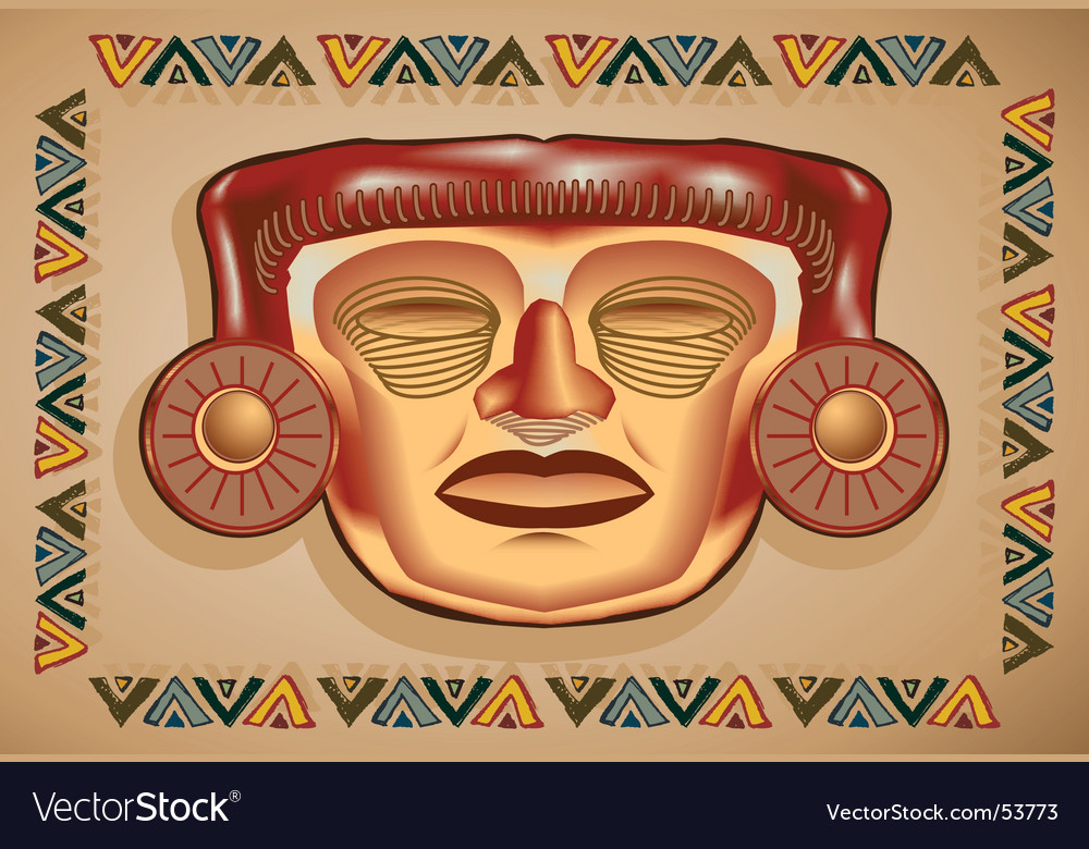 Aztec mask vector