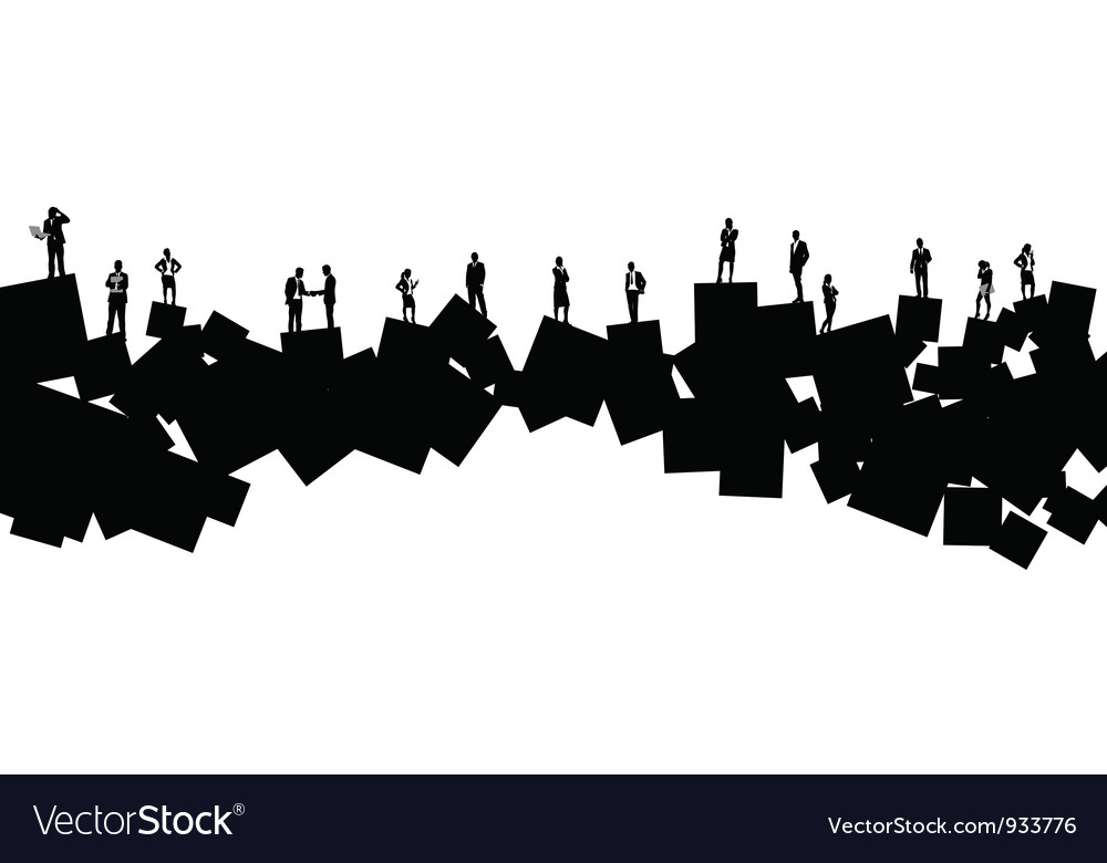 Business people square vector