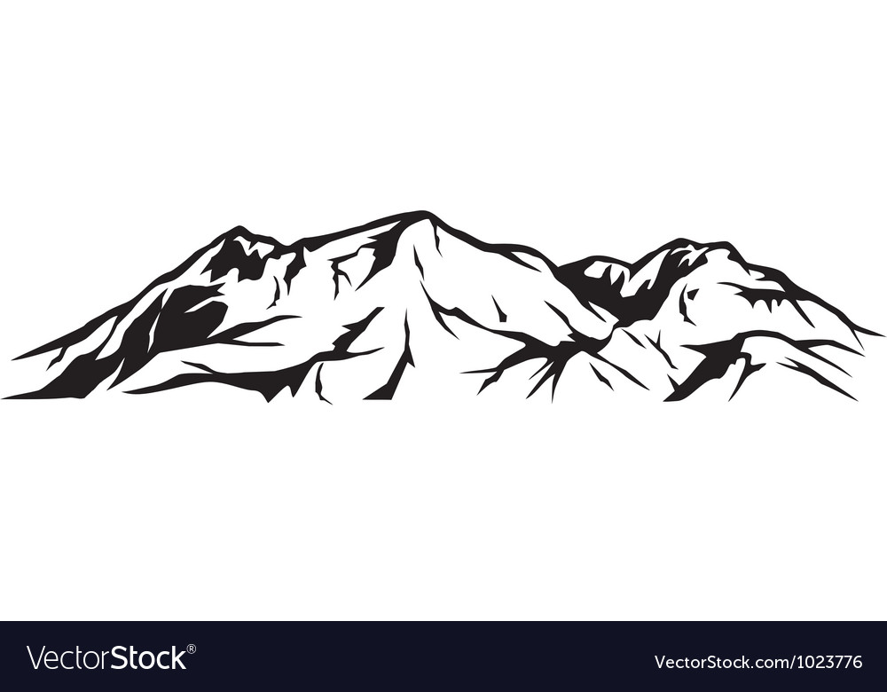 Mountain landscape vectorMountain Landscape Outline