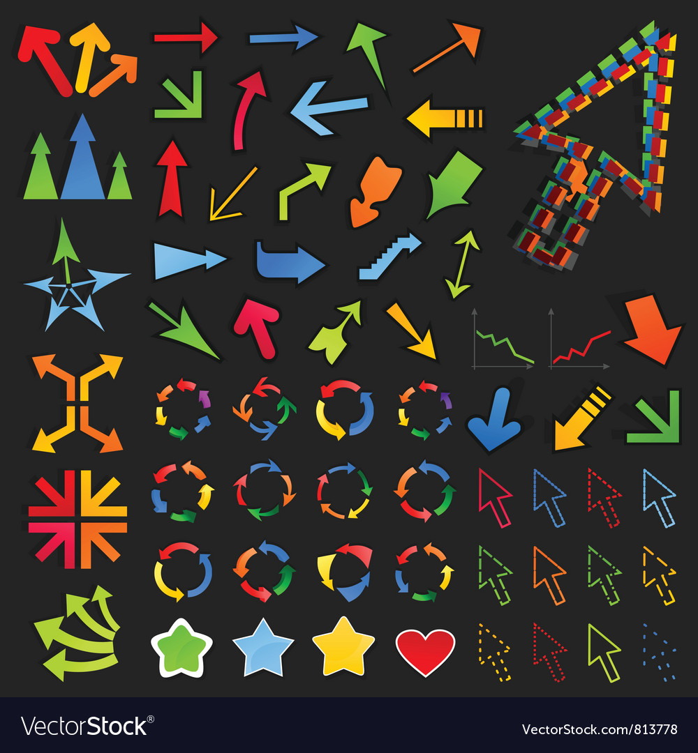Collection of arrows8 vector