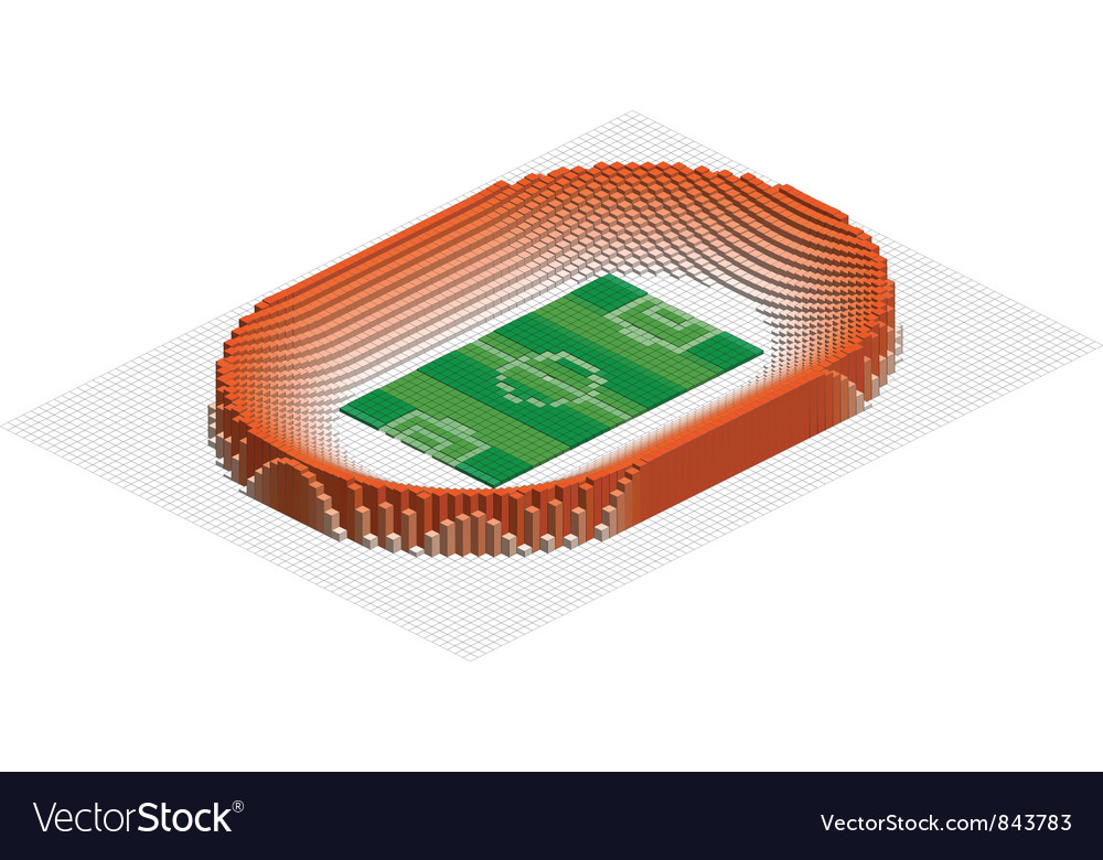 Abstract 3d stadium vector