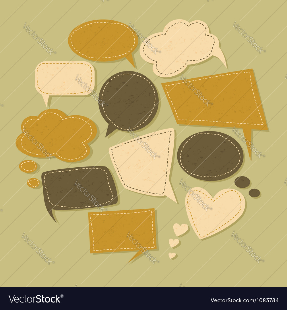 Vintage bubbles collection vector