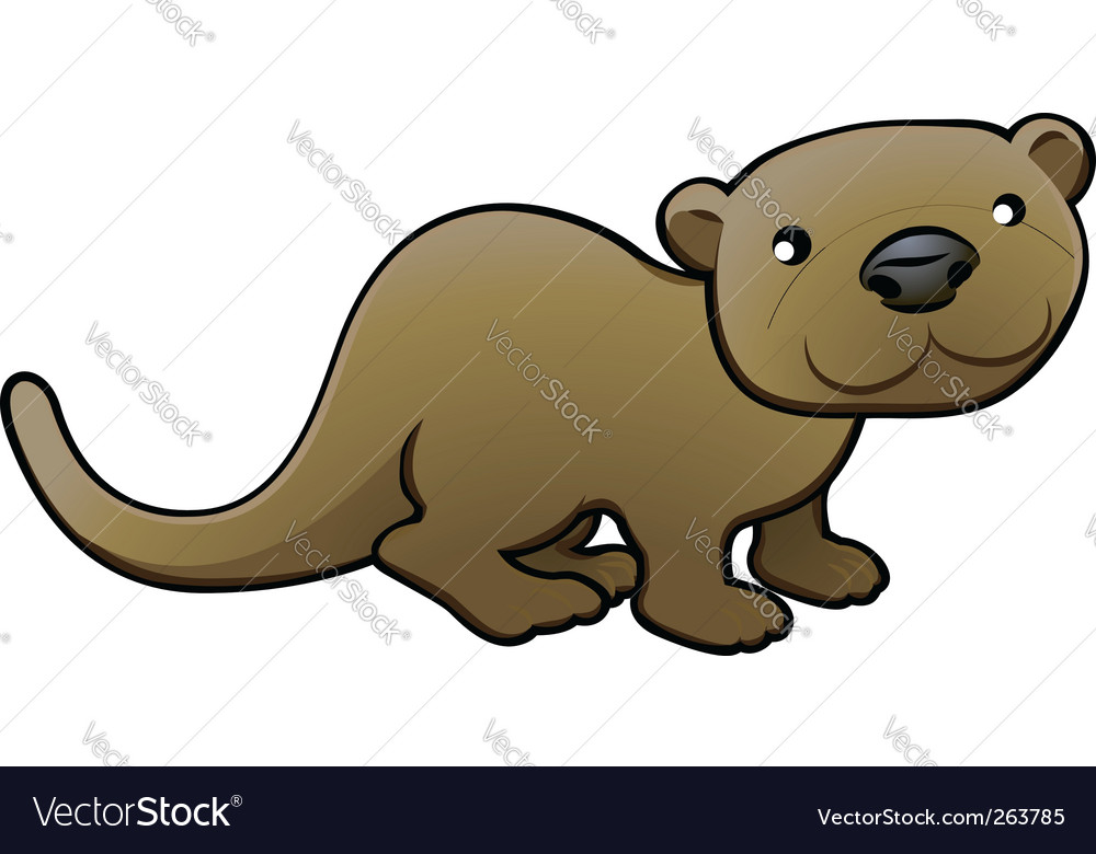 Otter illustration vector