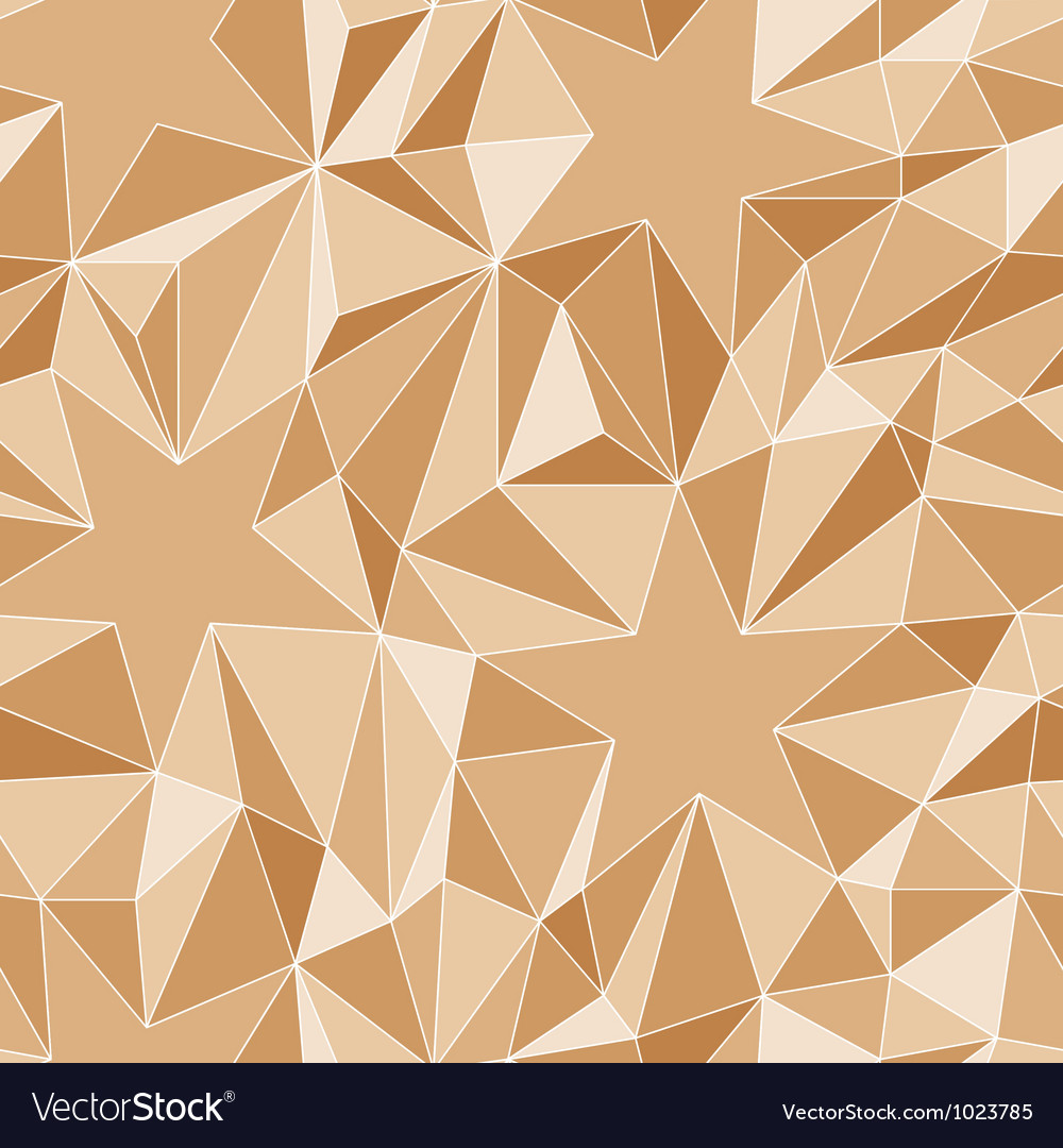 Stars and triangles - seamless pattern vector