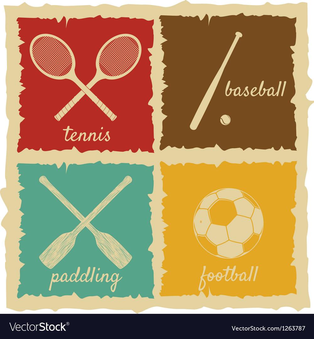 Set of vintage sport labels vector