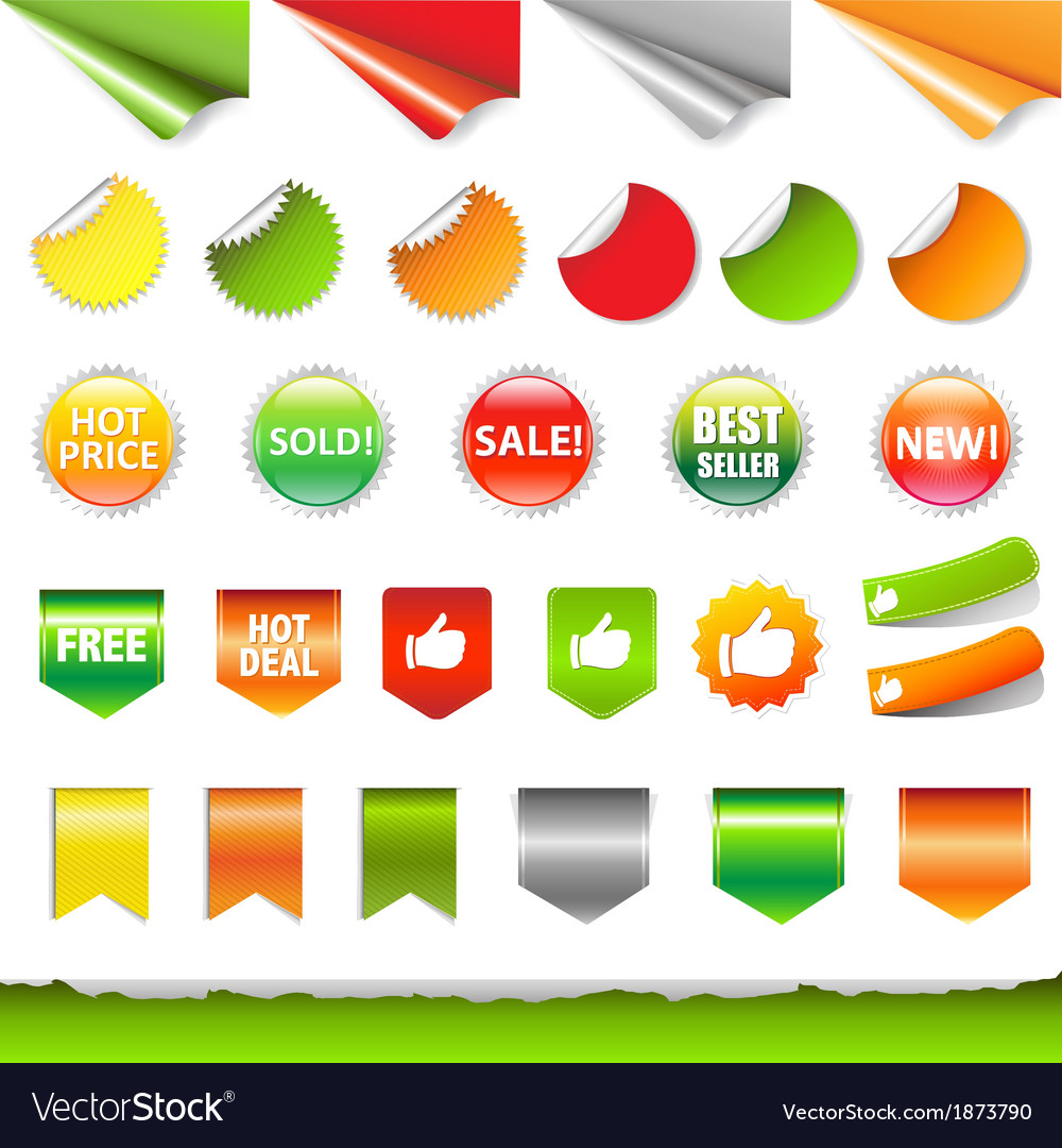 Big sale label set vector