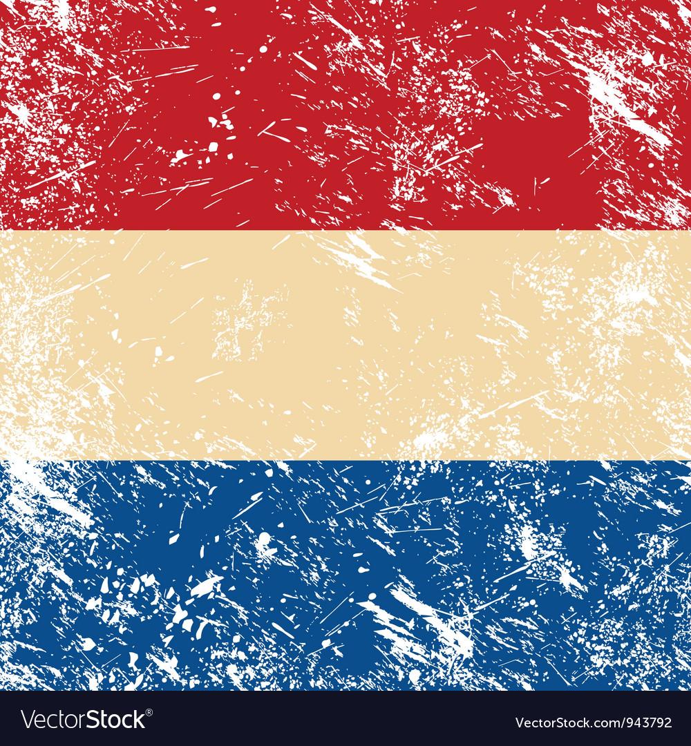 Holland retro flag vector