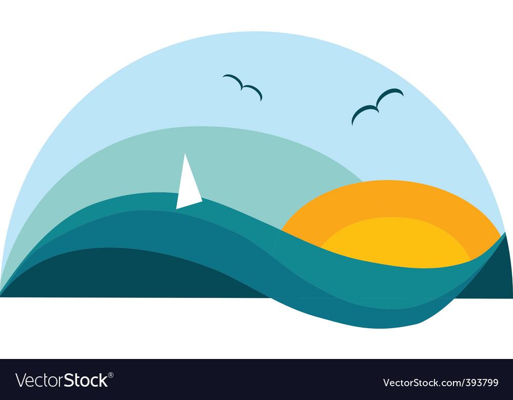 Sailing holiday vector