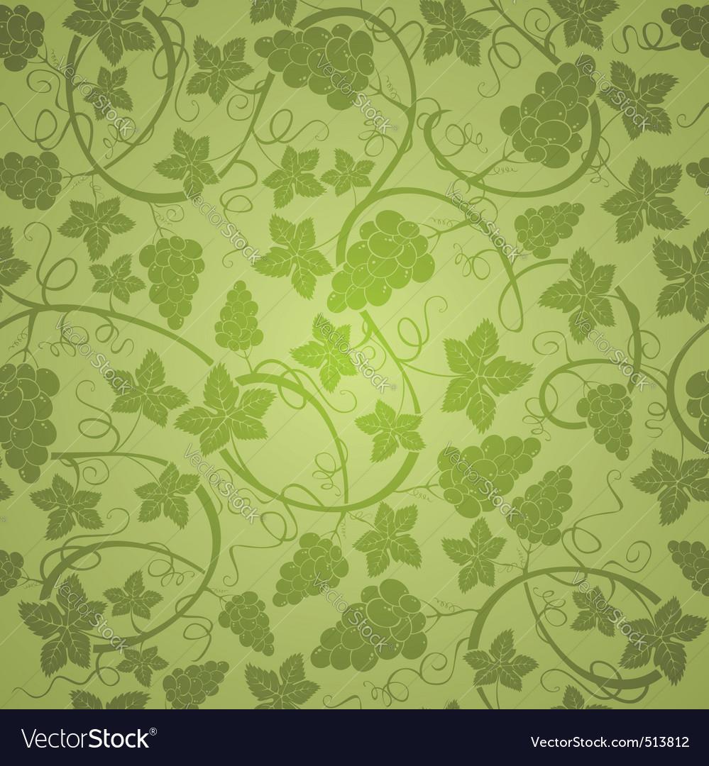Vine seamless background vector