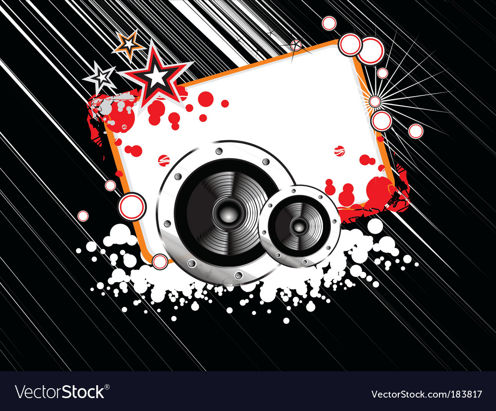 Music abstract frame vector