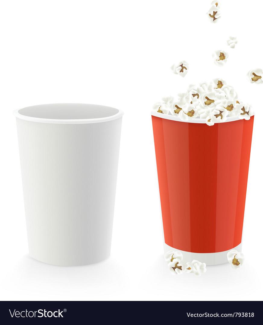 Popcorn caps vector