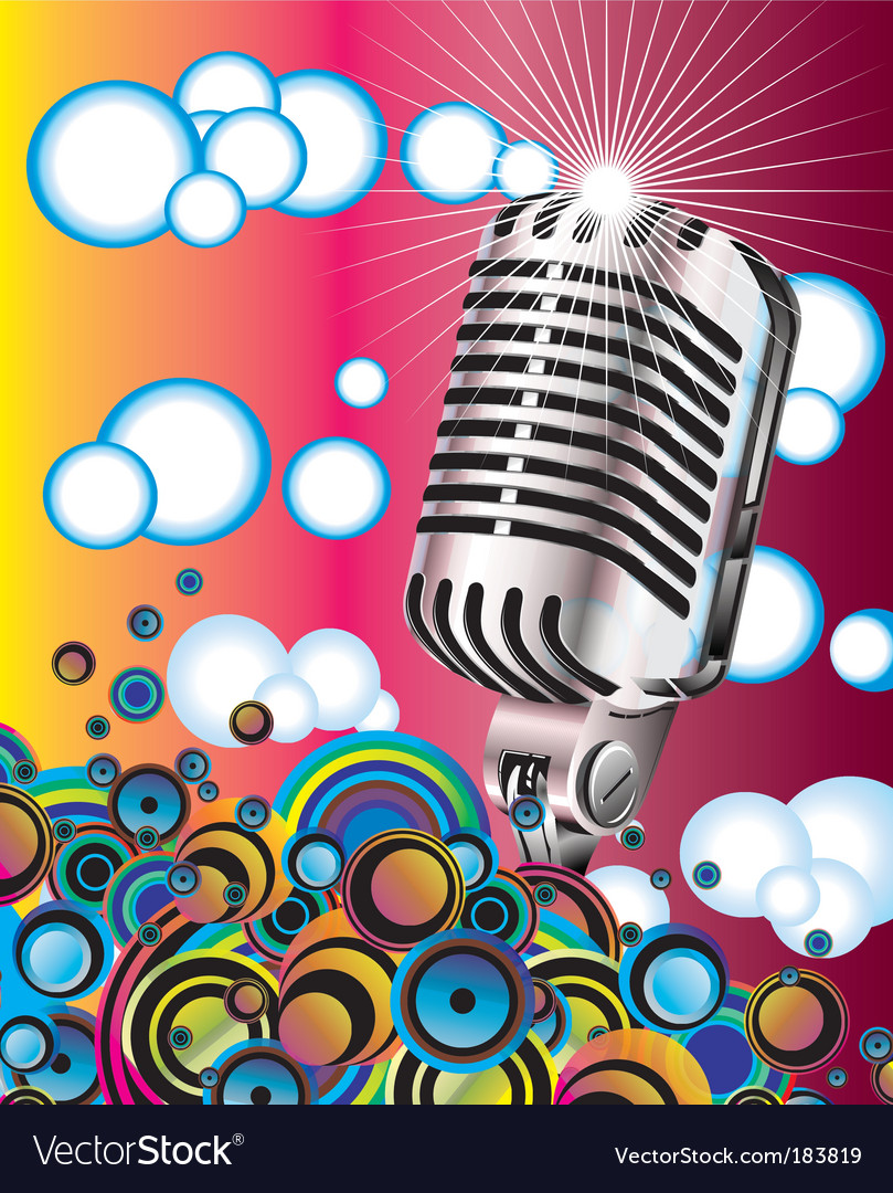 Retro microphone vector
