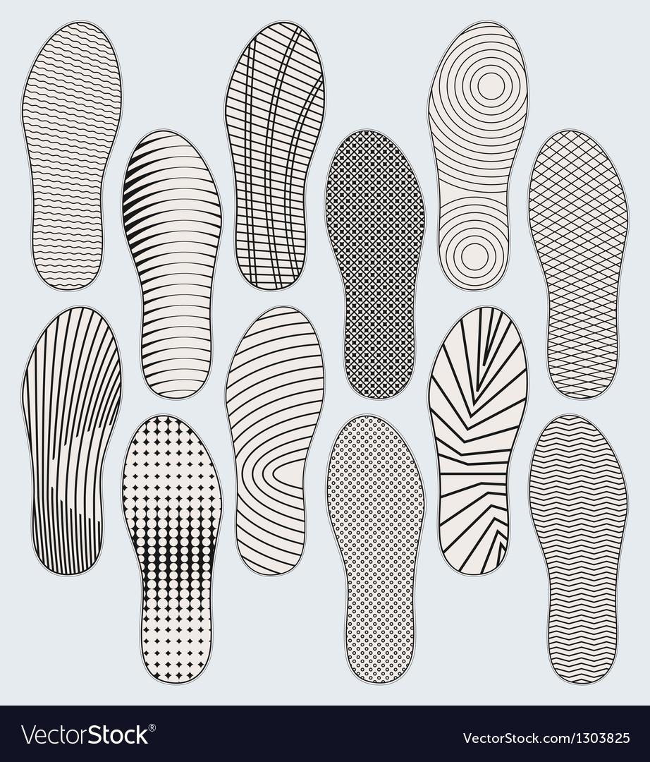 Shoe soles vector
