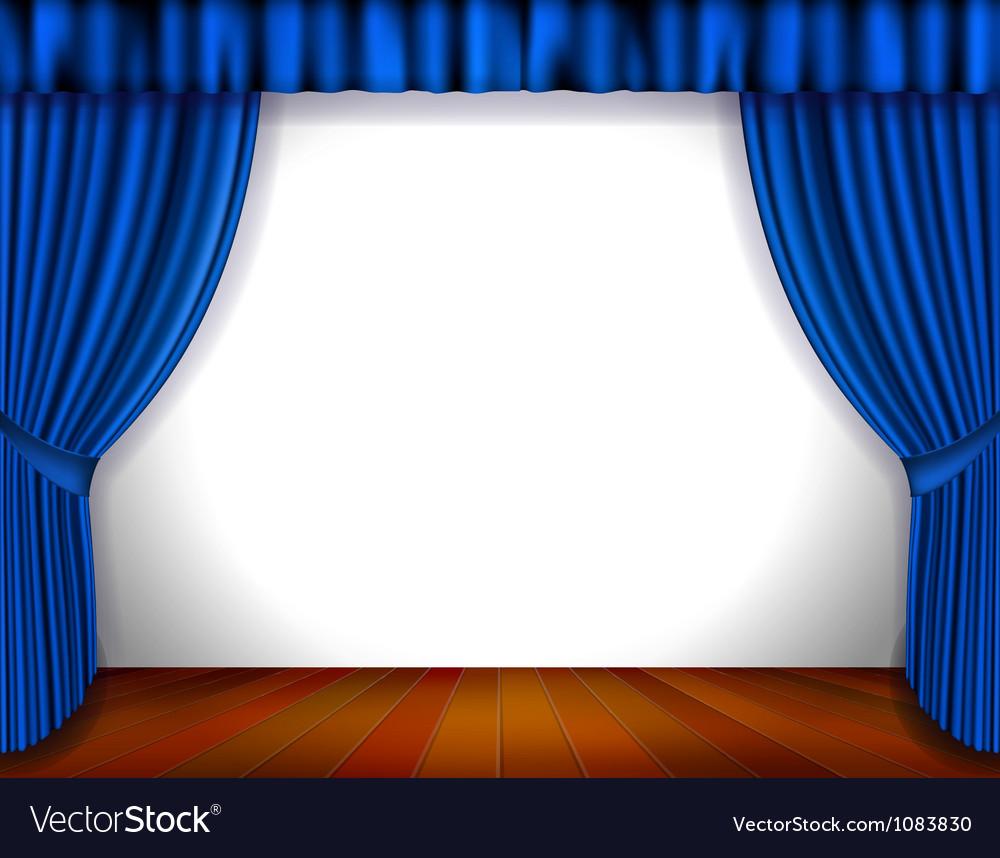 Blue curtain vector