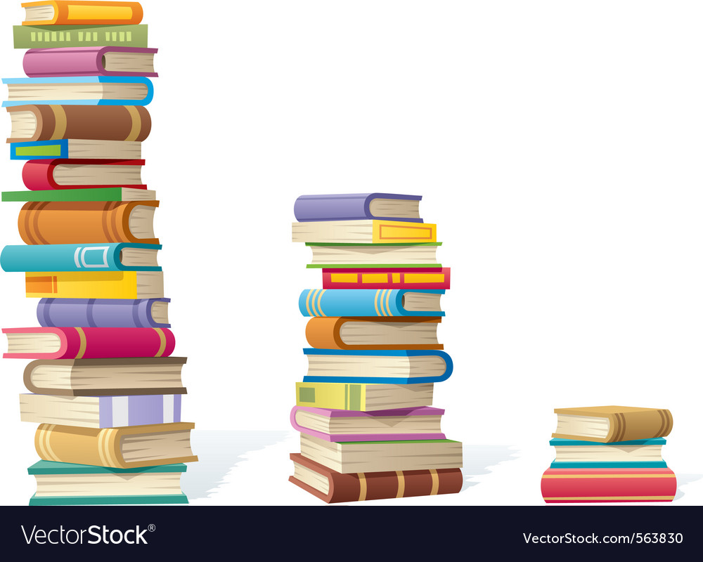 Book stacks vector