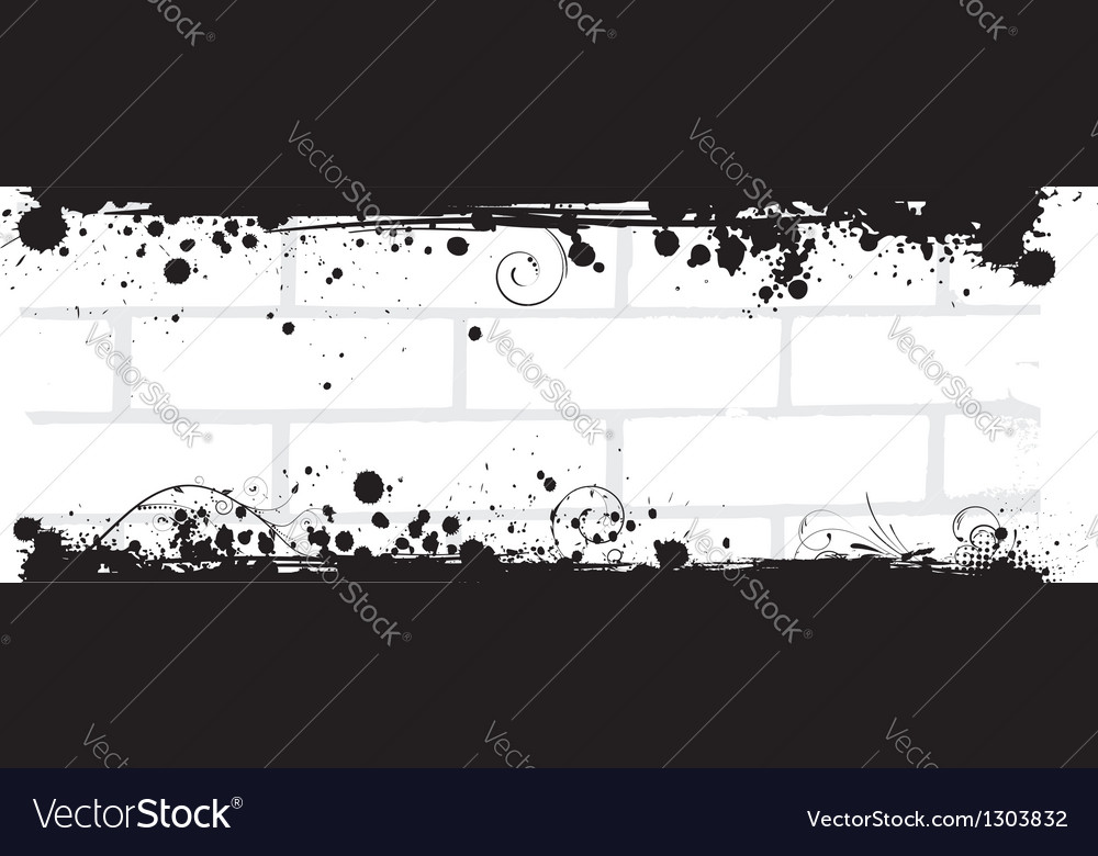 Grunge brick back vector
