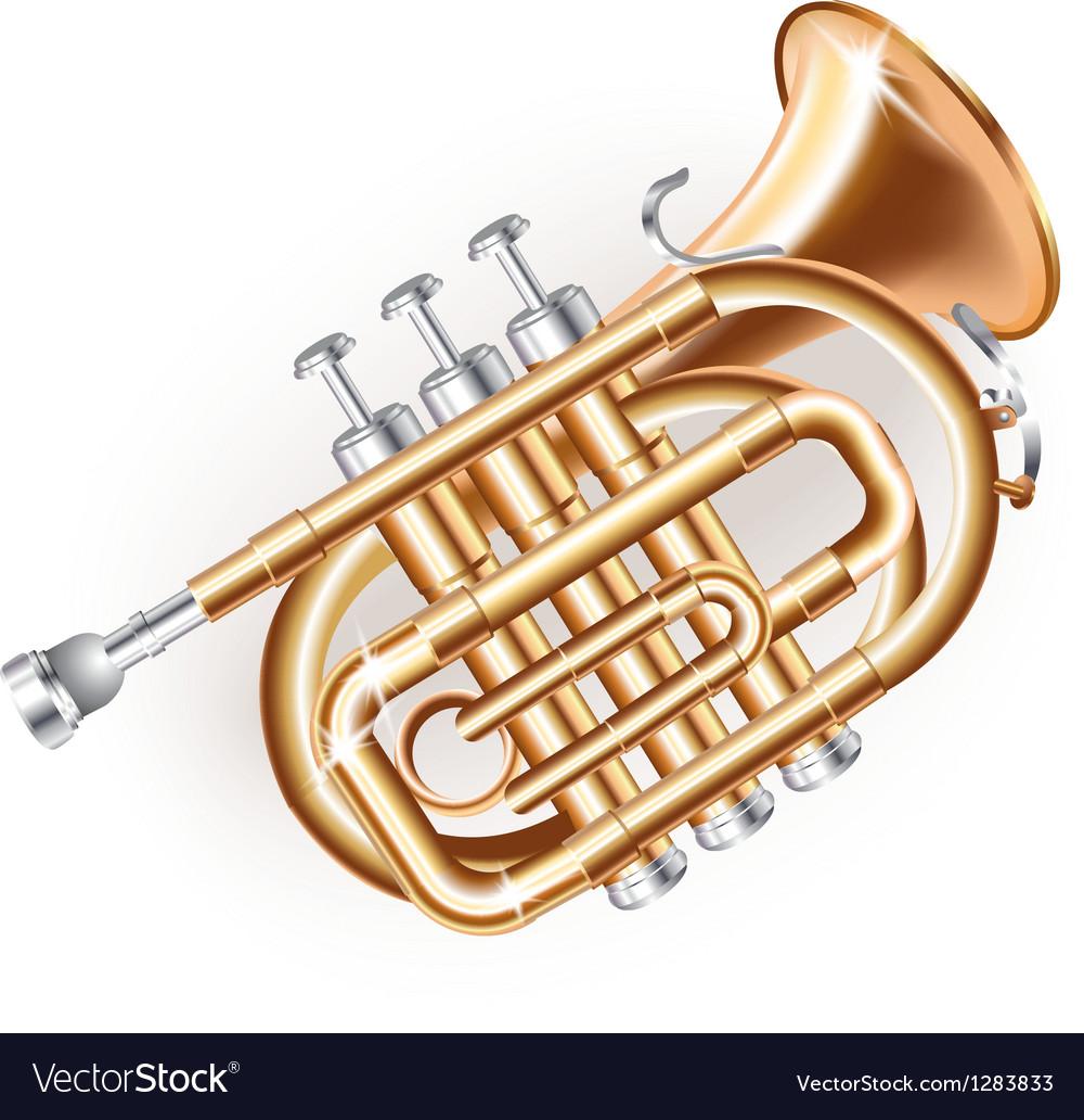 Classical mini trumpet vector