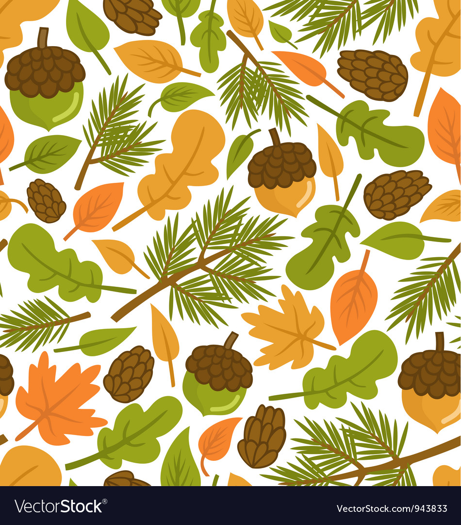Free forest pattern vector
