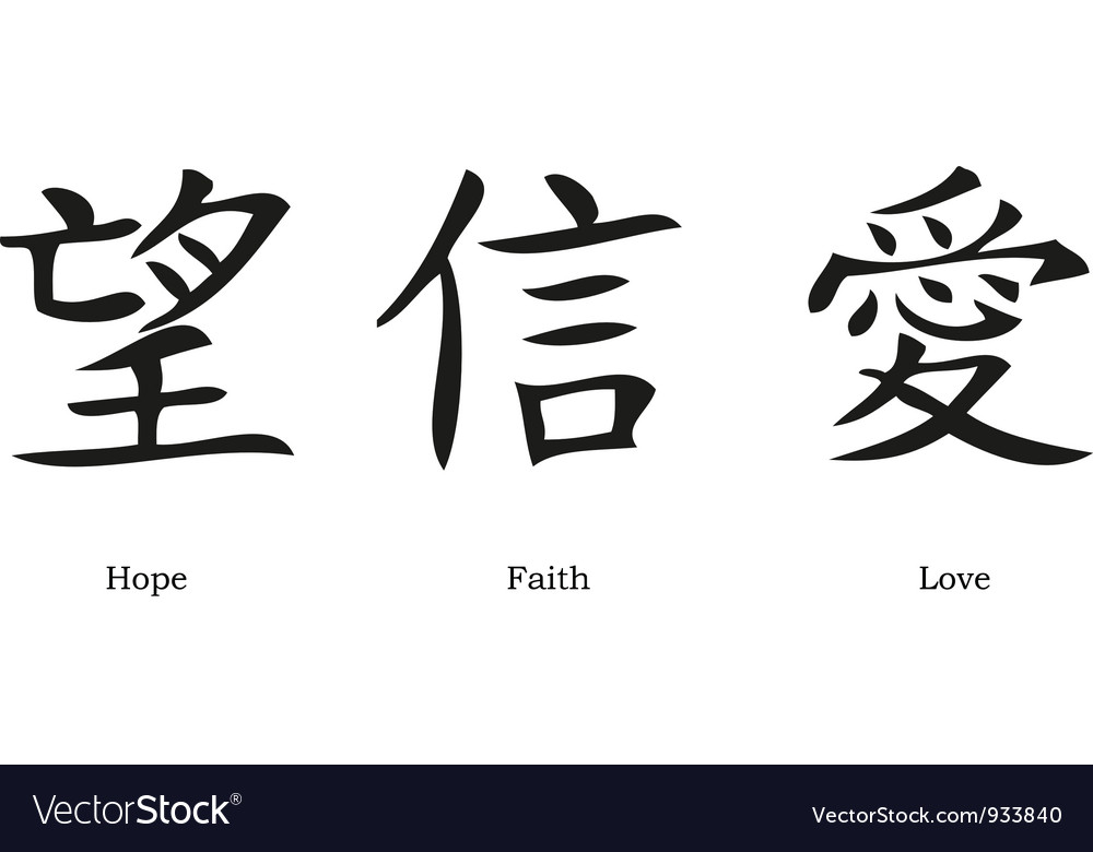 Chinese symbols vector