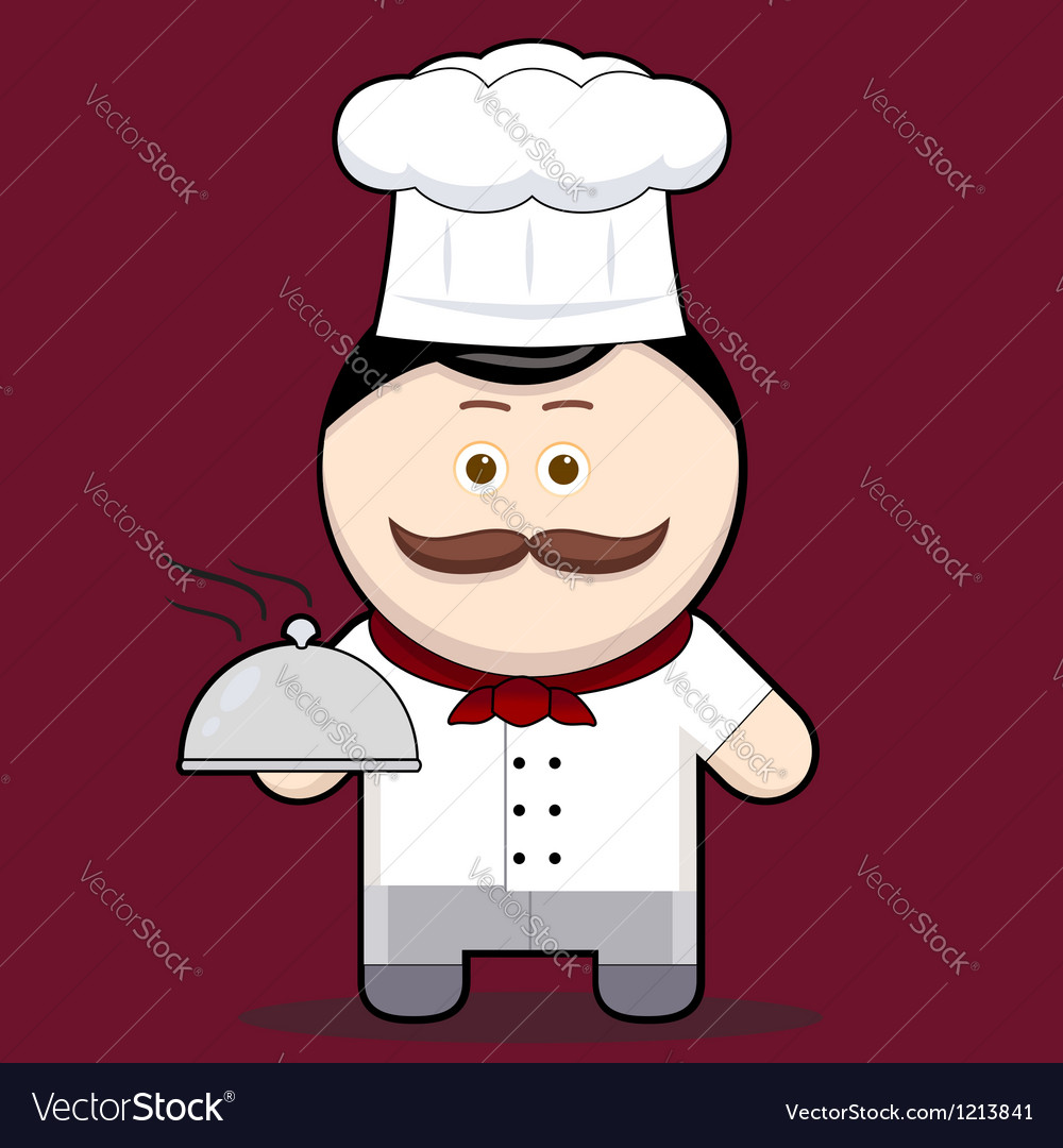 Cartoon cute chef vector