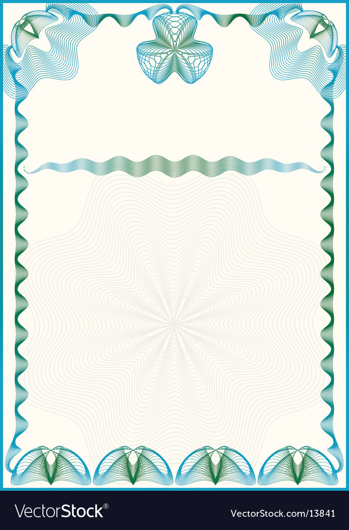 Certificate border vector by chen - Image #13841 - VectorStock