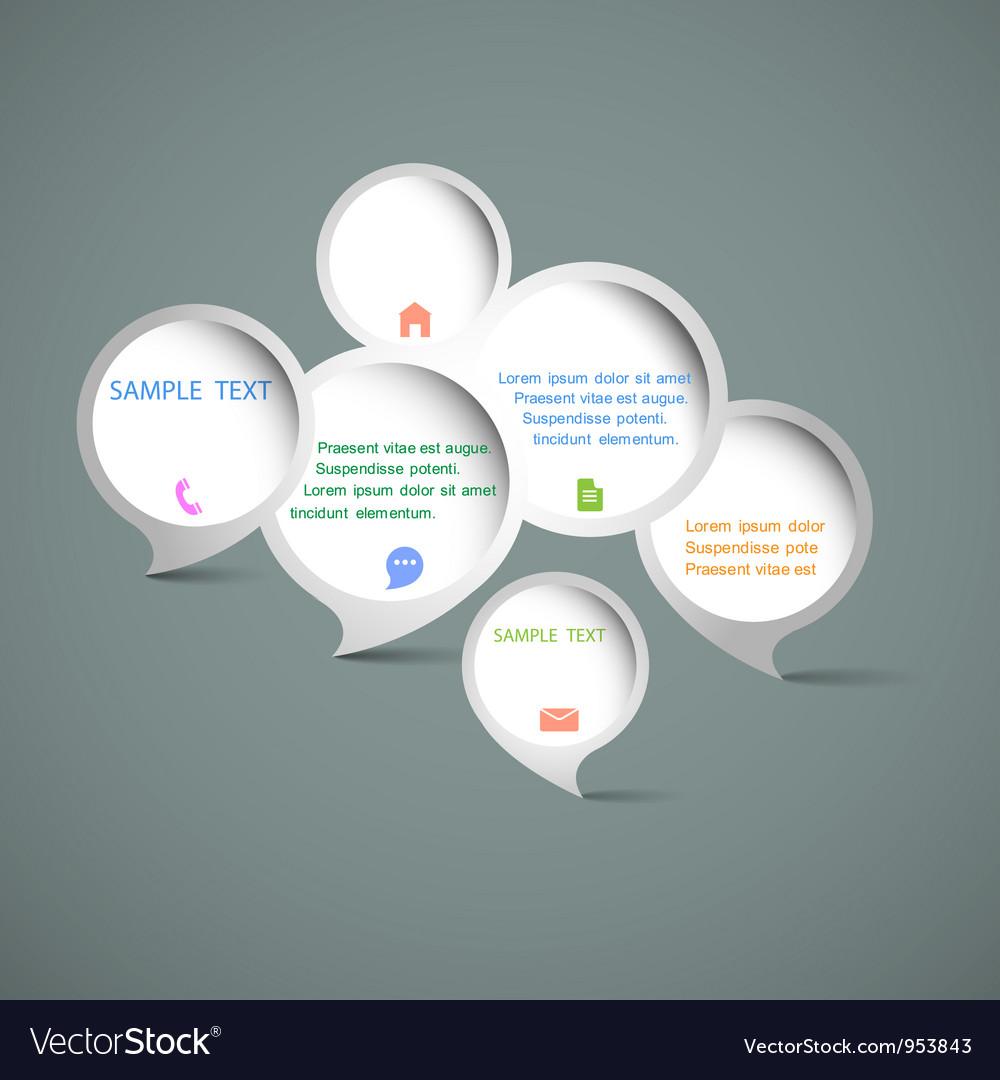 Web design speech bubbles vector