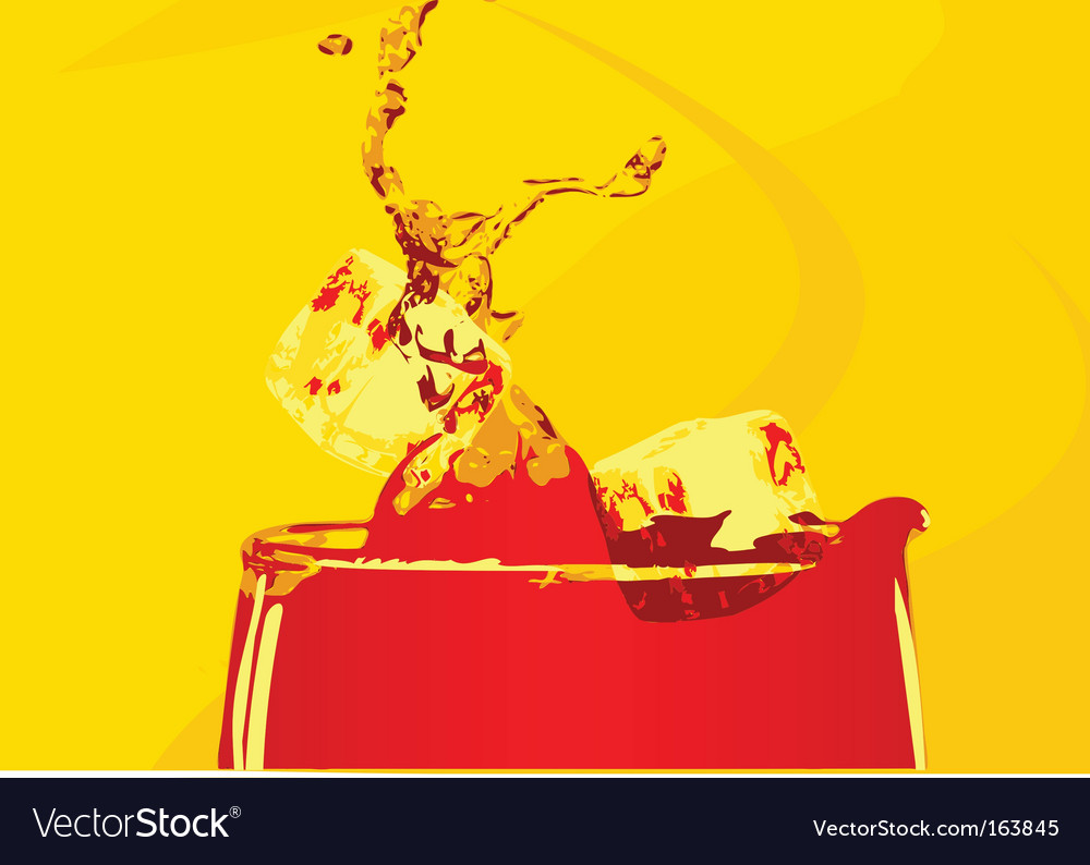 Abstract cocktail drink vector