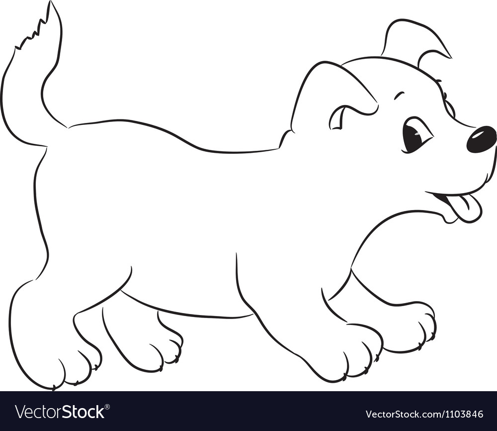 Dog for coloring vector