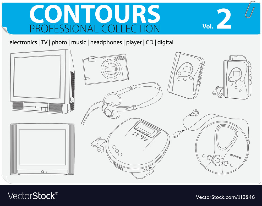 Electronic collection  vector