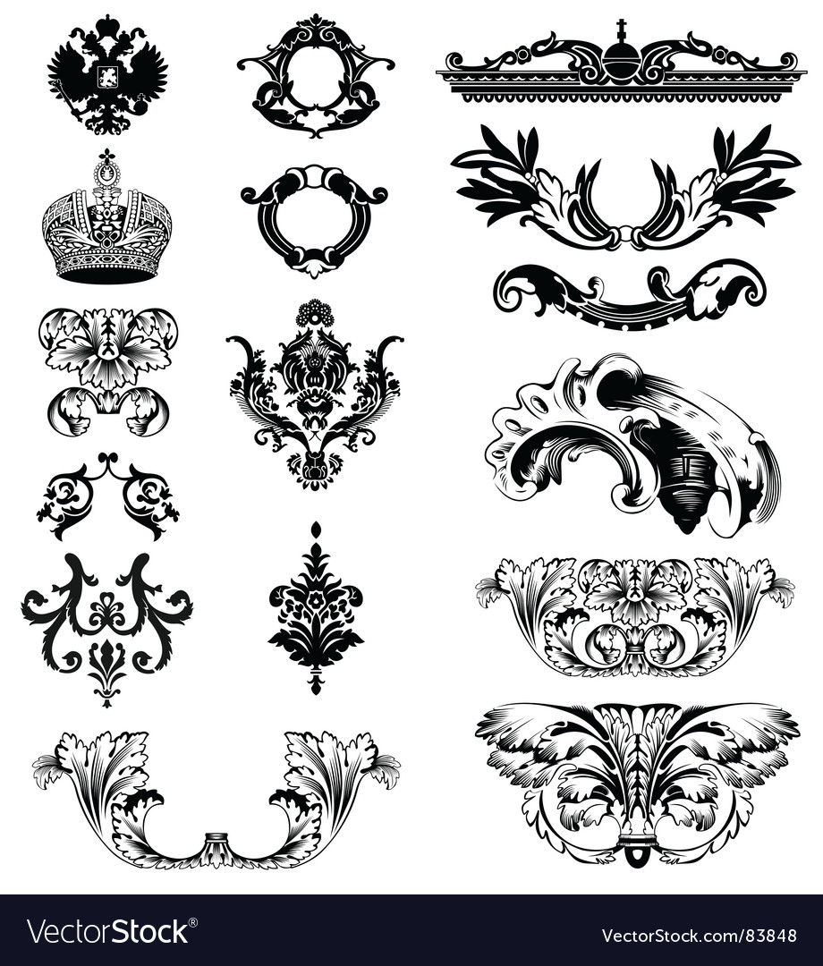 Imperial ornaments vector