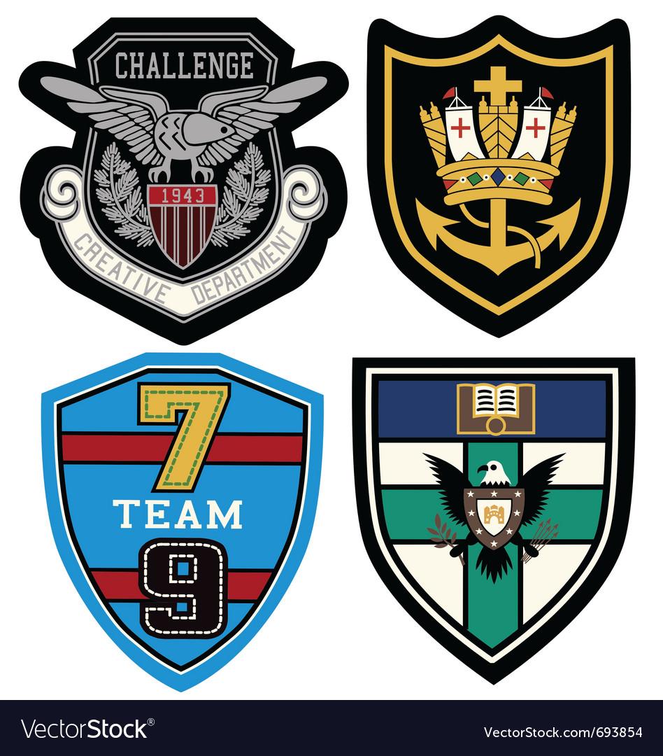 Classic heraldic emblem badge vector