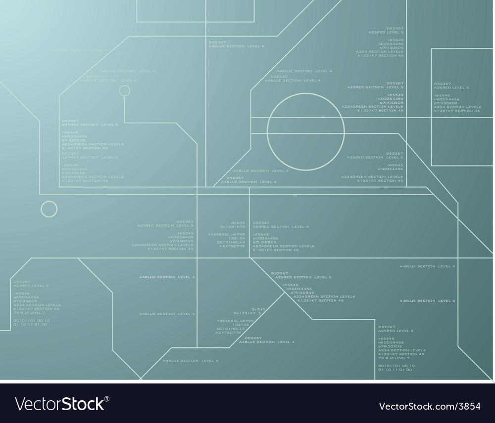 Technology green vector