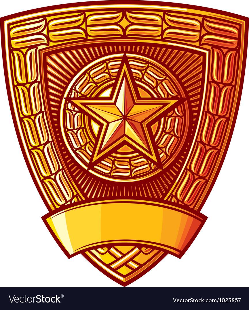 Police badge vector