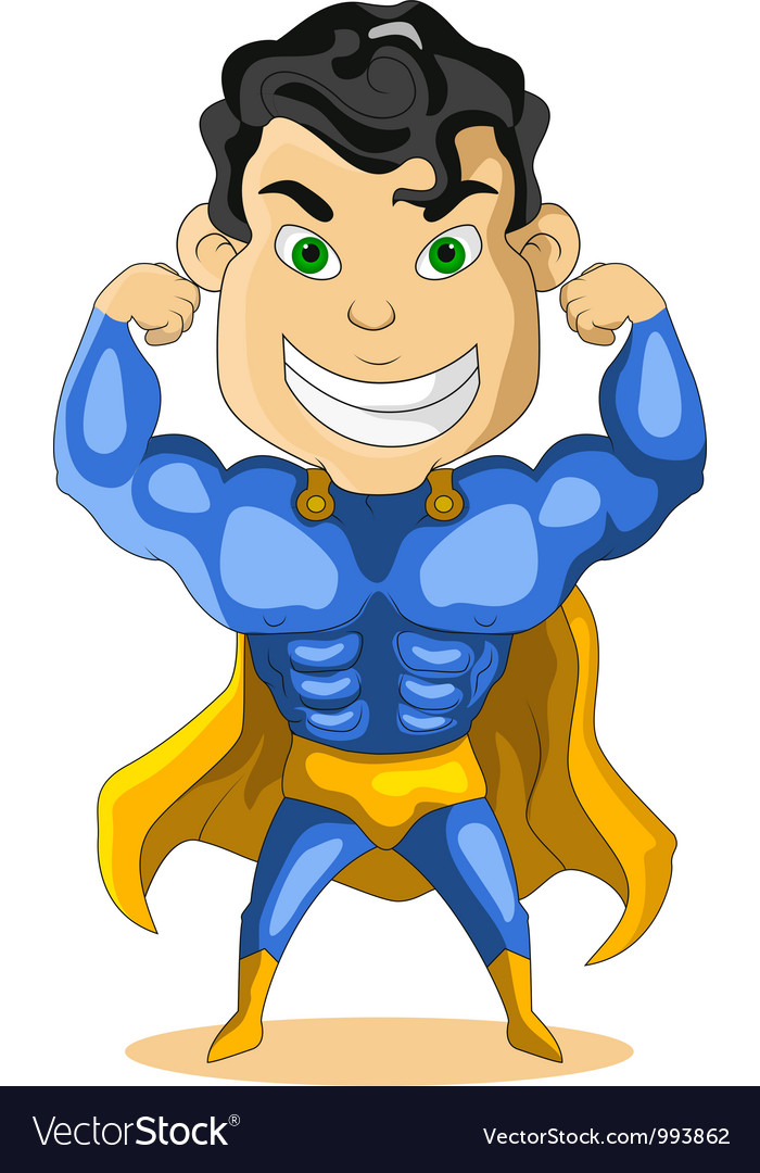 Strong super hero vector