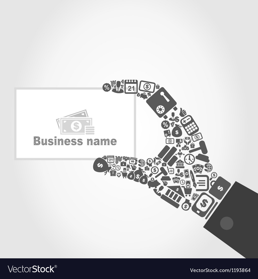 Hand business7 vector