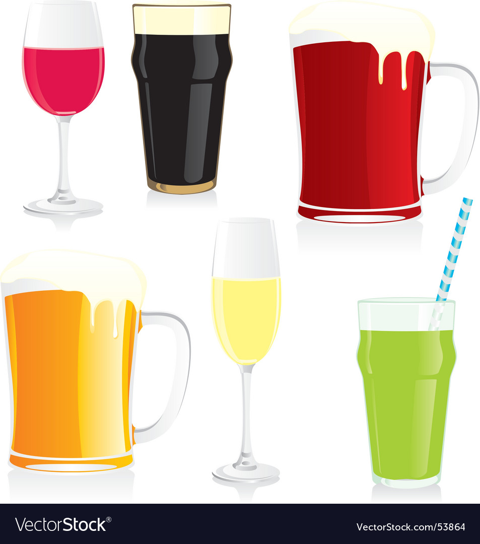 Isolated glasses vector