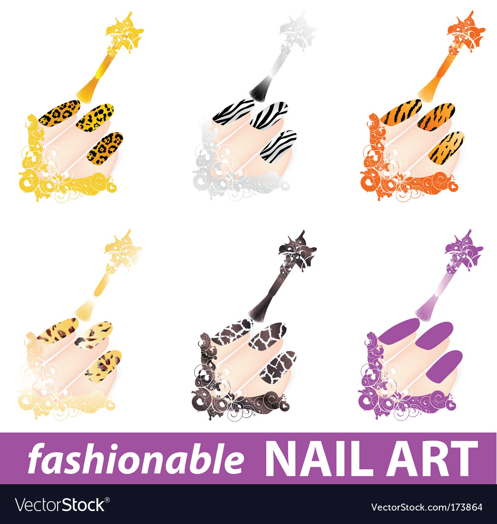 Nail art vector art - Download Shiny vectors - 173864