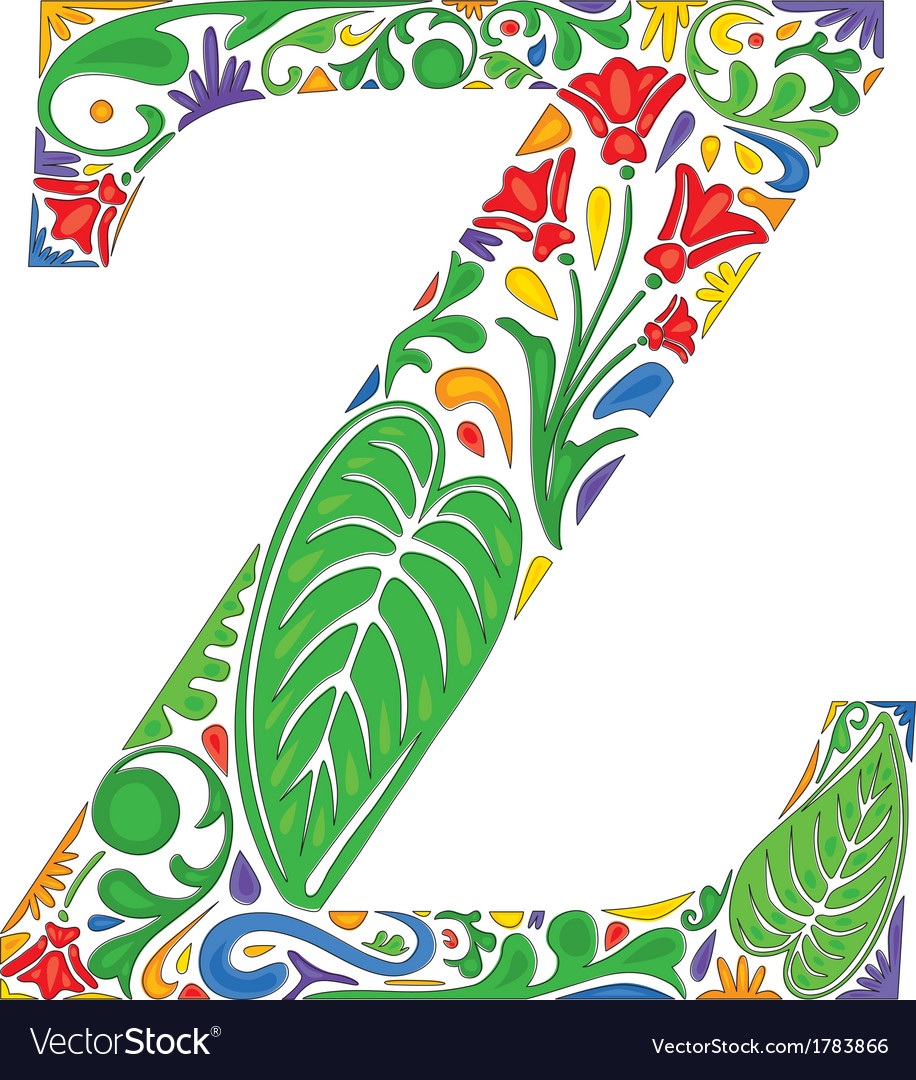Letter z vector by nahhan - Image #1783866 - VectorStock