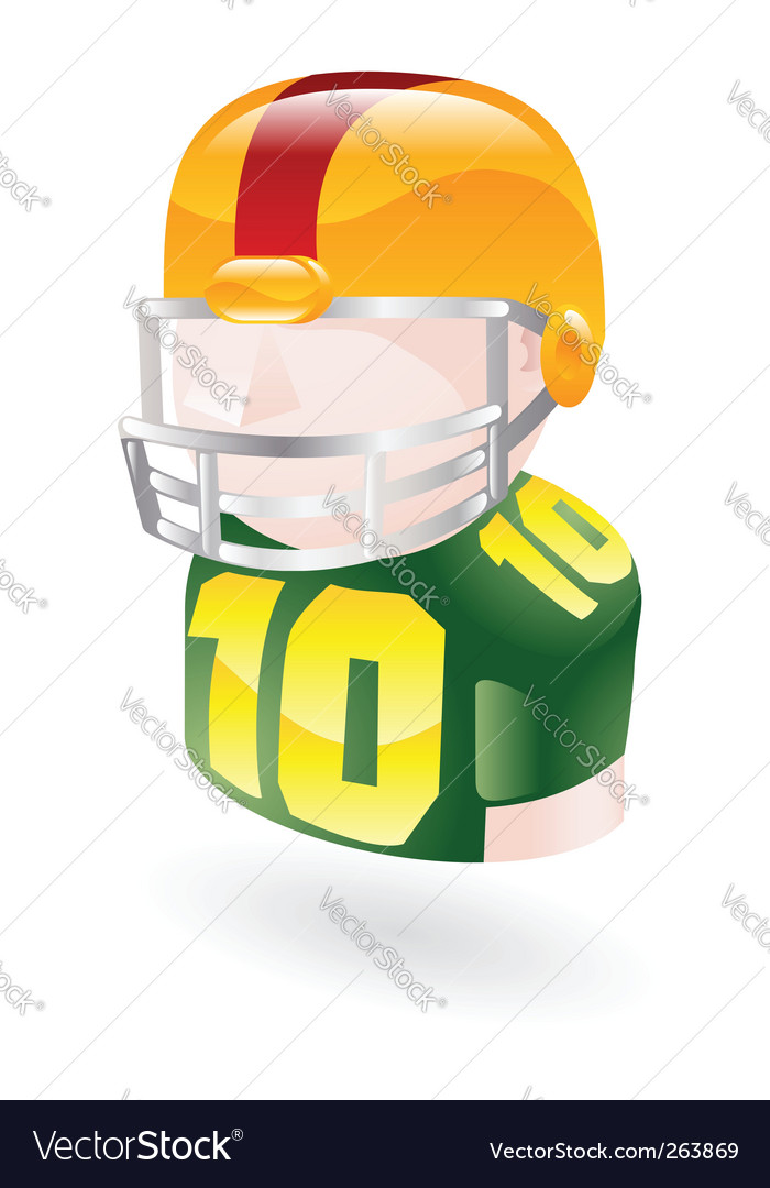 Football player icon vector