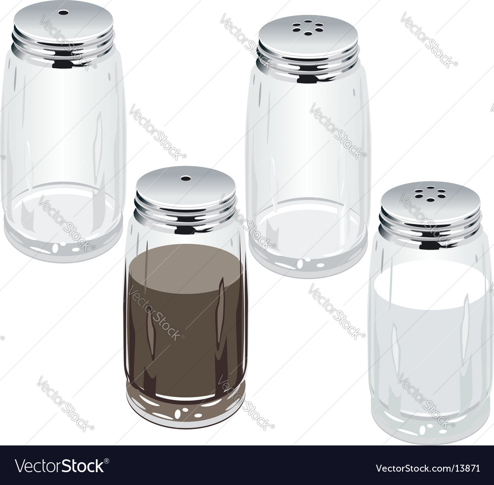 Salt pepper shakers vector